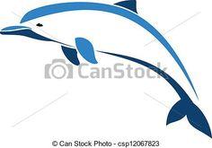 Vecteur - dauphin - Banque d'illustrations, illustrations libres de droits, banque de clip art, icônes clipart, logo, image EPS, images, graphique, graphiques, dessin, dessins, image vectorielle, oeuvre d'art, art vecteur EPS