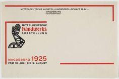 Johannes Molzahn. Mitteldeutsche Handwerks Ausstellung. 1925
