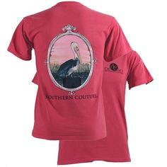 Sunset Pelican Southern Couture Comfort Color Tee