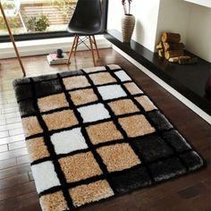 Designer Polyester Carpet-CFT-HBF-P-Block-Beige