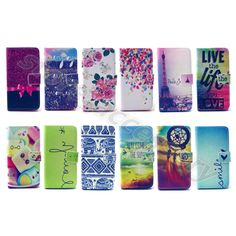 Patterned Lovely PU Leather Wallet Card Flip Case Cover Skin For Smart Phone #B2