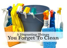 5 Disgusting Things You Forget To Clean!