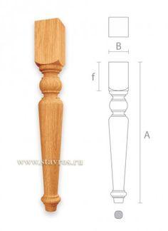 резная мебельная ножка для стула MN-028