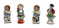 Japan-Porcelain-Set-4-Vintage-Collectible-Figurines