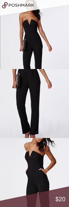 Missguided Plunge Wide Leg Jumpsuit SOLD OUT! A very plungey sexy look. Best for someone with a small size cup. Tried it on once but never got to wear it! New in excellent condition! Tags Missguided Other