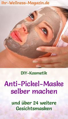 Anti-Pickel-Maske selber machen – Rezept und Anleitung Make an anti-pimple mask yourself – DIY recipe for a homemade facial mask, it refines the pores, calms and clarifies the complexion of only 2 ingredients it Yourself Pimple Mask, Pimples, Homemade Facial Mask, Homemade Facials, Diy Mask, Diy Face Mask, Mascarilla Diy, Diy Beauté, The Face