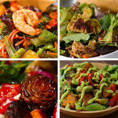 4 Fall Salads With Roasted Veggies