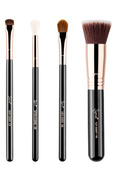 Sigma Beauty Classics Copper Essentials Brush - nordstrom sale - things I bought - Paisley + Sparrow How To Wash Makeup Brushes, Beauty Brushes, How To Apply Makeup, Flat Brush, Brush Set, Sigma Brushes, Nordstrom Sale, Baby Shampoo, Nordstrom Anniversary Sale