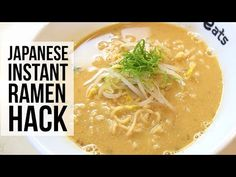 Mayo. Garlic. Raw egg. Add these to your supermarket packet ramen and it instantly makes it taste rich and luxurious. Trust us on this. Egg In Ramen Noodles, Ramen Noodle Recipes, Soup Recipes, Japanese Ramen, Japanese Food, Pork Ramen Recipe, Ramen Hacks, Asian Recipes, Ethnic Recipes