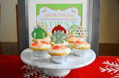 Super fun ugly sweater eggnog cupcakes are perfect for your tacky Holiday party! Moist, luscious, with just a touch of bourbon make them celebration ready.