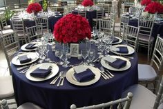 Navy and blue wedding!