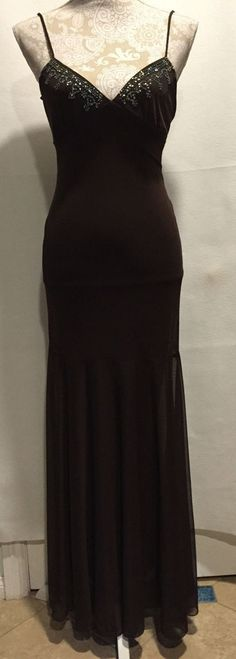 NWT Windsor Brown Homecoming Formal Full Length Long Dress Sz Small S Ret. $99…