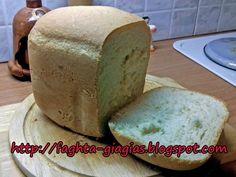 Σπιτικό, χωριάτικο ψωμί φτιαγμένο στον αρτοπαρασκευαστή How To Make Bread, Recipies, Cooking Recipes, Homemade, Cookies, Breads, Tips, Plants, Brot