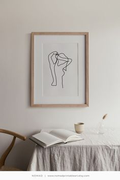 Line art woman, PRINTABLE wall art, Line drawing, Minimalist art black and white, Abstract art, Female nude print, Continuos line poster Diy Wall Art, Wall Decor, Black And White Prints, Art Prints Quotes, Minimalist Art, Interior Styling, Interior Design, Line Drawing, Printable Wall Art
