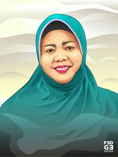Vector / Vexel Art my mom 😘 #vector #vectorart #vexel #digitalart #art #mom #hijab #corel