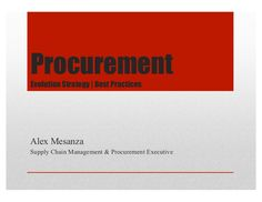 Procurement: Strategies | Best Practices