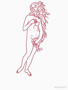 'Birth of Venus' T-Shirt by designbyzach Venus Tattoo, Tattoo Filler, Arm Tats, Statue Tattoo, Indie Art, Desenho Tattoo, Illustration Sketches, Diy Wall Art, Textile Prints
