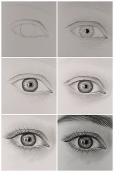 how to draw realistic eye step by step.:separator:how to draw realistic eye step by step. Pencil Art Drawings, Kawaii Drawings, Art Drawings Sketches, Eye Drawings, Eye Pencil Drawing, Horse Drawings, Realistic Eye Drawing, Drawing Eyes, How To Draw Realistic