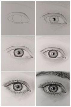 How To Draw A Realistic Eye Art Pinterest Art Drawings Eye