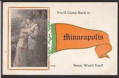 Minneapolis-Romantic-Pennant-Greeting-Antique Postcard | eBay