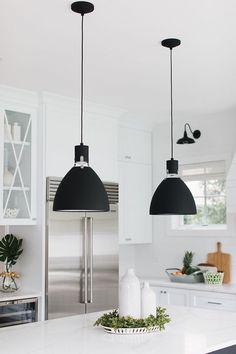 Interior Design Ideas: Small Lot Modern Farmhouse - Pendant Lighting - Ideas of Pendant Lighting Farmhouse Pendant Lighting, Kitchen Pendant Lighting, Kitchen Pendants, Island Pendants, Kitchen Lighting Design, Kitchen Lighting Fixtures, Home Lighting, Luxury Lighting, Lighting Ideas