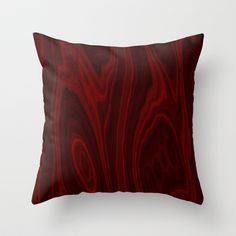 red wood Throw Pillow by DagmarMarina - $20.00