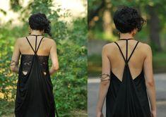 Pixie Dress Steampunk Dress Goth Dress Burlesque Dress