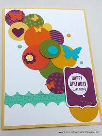 Kunterbunte #Konfetti-Karten zum #Geburtstag   http://eris-kreativwerkstatt.blogspot.de/2017/04/kunterbunte-konfetti-karte-zum.html  #stampinup #teamstampingart #teameriskreativwerkstatt #karte