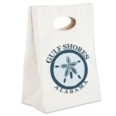 Gulf Shores - Alabama. Canvas Lunch Tote