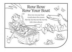 Row, Row, Row Your Boat colouring sheets (SB8331