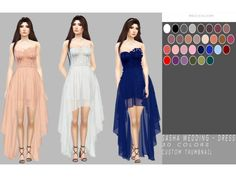 Sasha Wedding - Dress by simply-simming - The Sims 4 Download - SimsDom