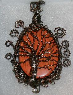 bronze wire wrapped on a bronze chain myth Fantasy magic Bronze dragon necklace with turquoise nugget pagan druid.