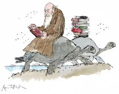 Charles Darwin by Quentin Blake Charles Darwin, Roald Dahl Characters, Quentin Blake Illustrations, Reading Art, I Love Books, Idea Books, Children's Book Illustration, Book Lovers, In This World