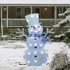 36-034-LED-Lighted-Twinkling-Snowman-Sculpture-Outdoor-Christmas-Decoration