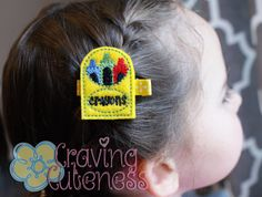 Crayon Box Hair Clip  Meet Miss Crayona by CravingCuteness on Etsy