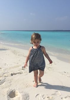 Princess Leonore in Maldives (posted by Princess Madeleine in her facebook page)