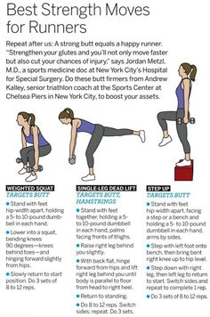 """Best Strength Moves for Runners -- not that I consider myself a """"runner"""", but I'm working on it"""