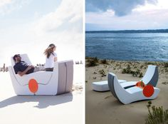 """The Puzzle set, from Ego Paris, is available with nine pieces or you can buy them individually. When fitted together, they form a large, stacked """"puzzle"""" but when taken apart, you have some pretty sweet loungers to relax in."""