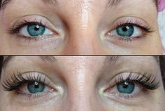 Before and After - Lash Extensions