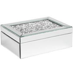 Bejeweled Mirrored Jewelry Box