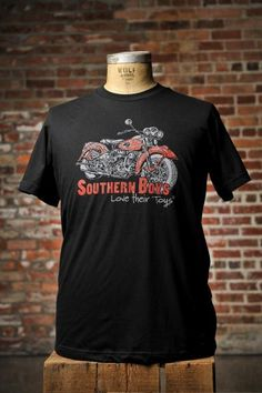 Southern Boys T-Shirt Motorcycle for Bourbon & Boots
