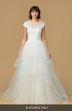 nouvelle AMSALE Natasha Lace & Horsehair Tulle Ballgown (In Stores Only)