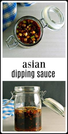 This Asian Dipping Sauce is great for dipping, but use it like a Soy Sauce or use it to shortcut recipes like egg rolls and dumplings. Easy to make and just keeps getting better and better in the fridge. #AsianDippingSauce