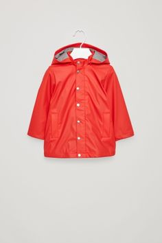 COS Hooded raincoat in Signal Red