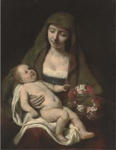 Samuel van Hoogstraten - The Virgin and Child with a floral wreath