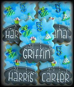 Trampoline favors for Griffin's 5th birthday