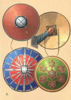 Golden Horde shields.