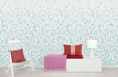Studio Rita | Maria Bergström - Tiny Tree - Turqoise - Wall Mural & Photo Wallpaper - Photowall