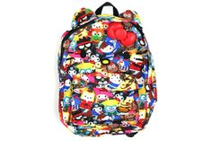 Hello Kitty Backpack with Ears - Street Fighter