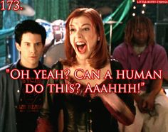 "Buffy The Vampire Slayer. Vamp: ""Yeah, yeah, I think they can actually."""